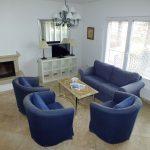 A TV-sarok a kényelmes kanapékkal